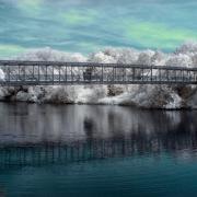 Elora Bridge In Infrared