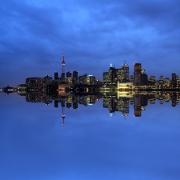 Toronto Twilight Reflection Blue